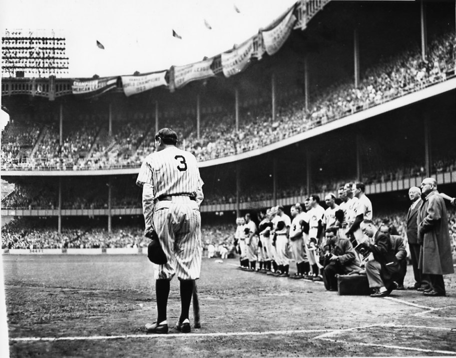 Nat Fein's Pulitzer-prize photo of Babe Ruth